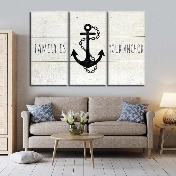 Family Is Your Anchor Multi Panel Canvas Wall Art Multi Panel Canvas Easy Canvas Painting Wall Art Designs