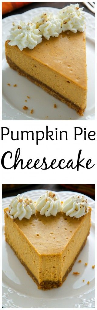 Pumpkin Pie Cheesecake - Smooth as silk and full of true pumpkin ...