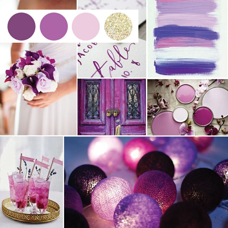 Radiant orchid wedding invitation suite inspiration board www.ribbonandink.com