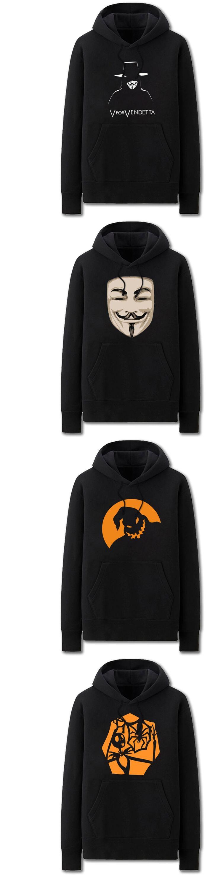New Autumn Winter V For Vendetta print Hoodies Sweatshirts 2017 Men Women 100% Cotton Fashion Casual Cheap Tops Hoody Pullover