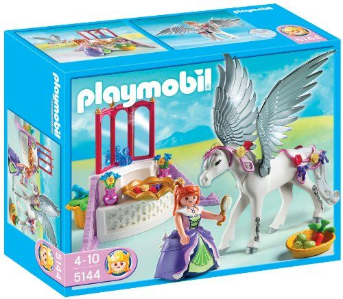 playmobil 5144 jeu de construction cheval ail et coiffeuse de princesse your - Playmobil Chambres Princesses