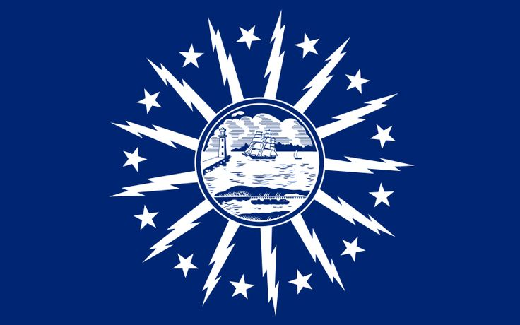 Official Flag of the City of Buffalo - did you know we had a city flag?  How cool is this design!!
