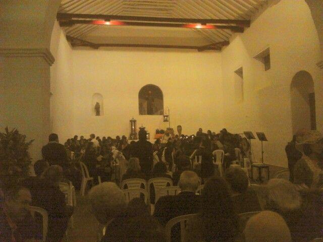 En la inauguración de el claustro San Agustín en Villa de Leyva