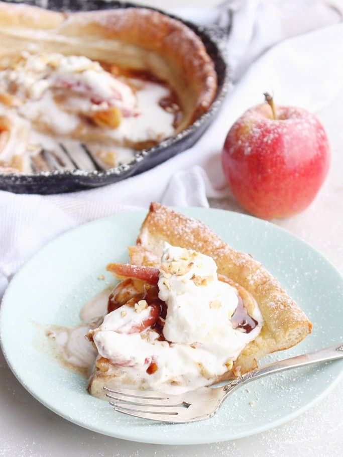 Caramelized Apple & Brown Butter Dutch Baby recipe