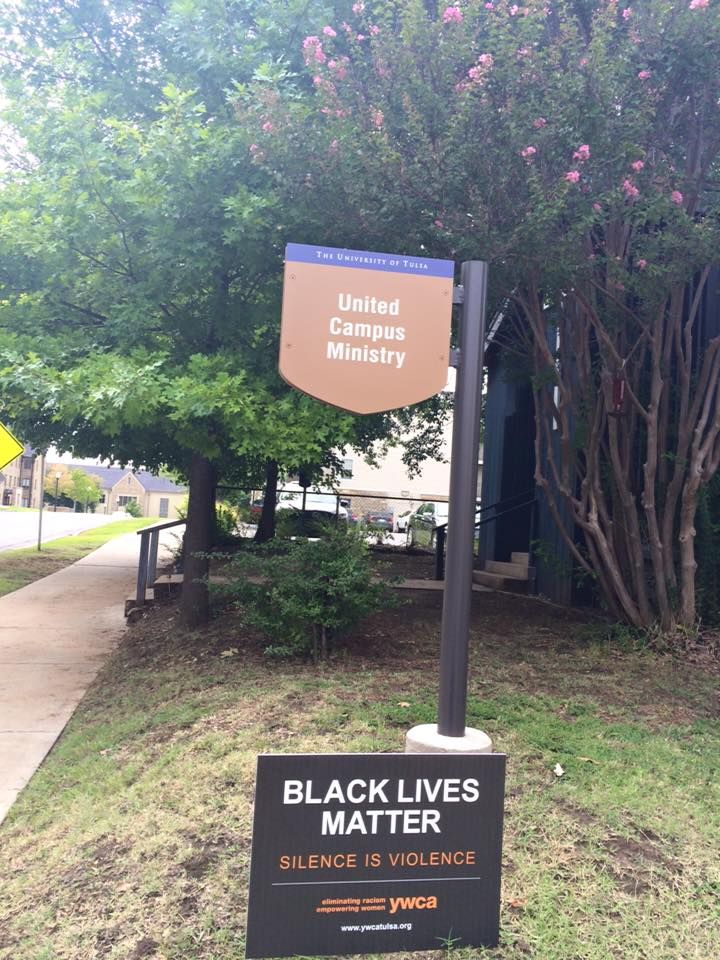 So Black Lives Matter has taken over my newsfeed of Facebook again this week. It all started with this picture, posted on the page for my employer, United Campus Ministries at TU, after we put a BL...