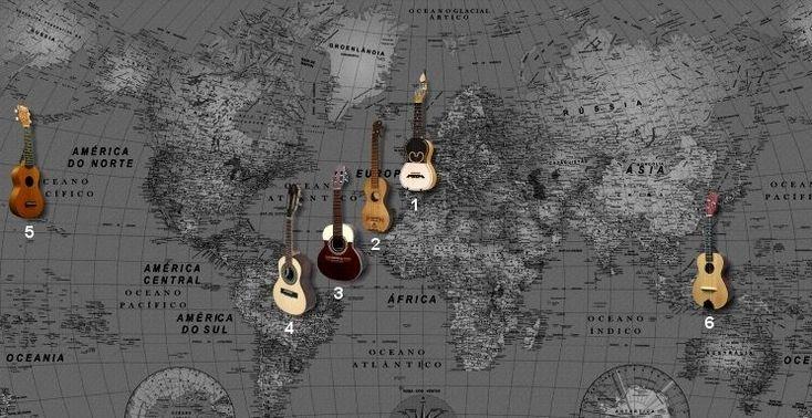 Wist je dat Hawaїaanse ukelele uit Portugal komt? - via Over Portugal 11.05.2015 | Wist je dat de Hawaїaanse ukelele eigenlijk uit het noorden van Portugal komt? Een cavaquinho is een klein instrument (52 cm) met vier snaren. Hoe klinkt deze muziek? En hoe is dit instrument in alle hoeken van de wereld terechtgekomen? Lees meer over de geschiedenis en Júlio Pereira´s cavaquinho. Foto: instrument cavaquinho wereldwijd