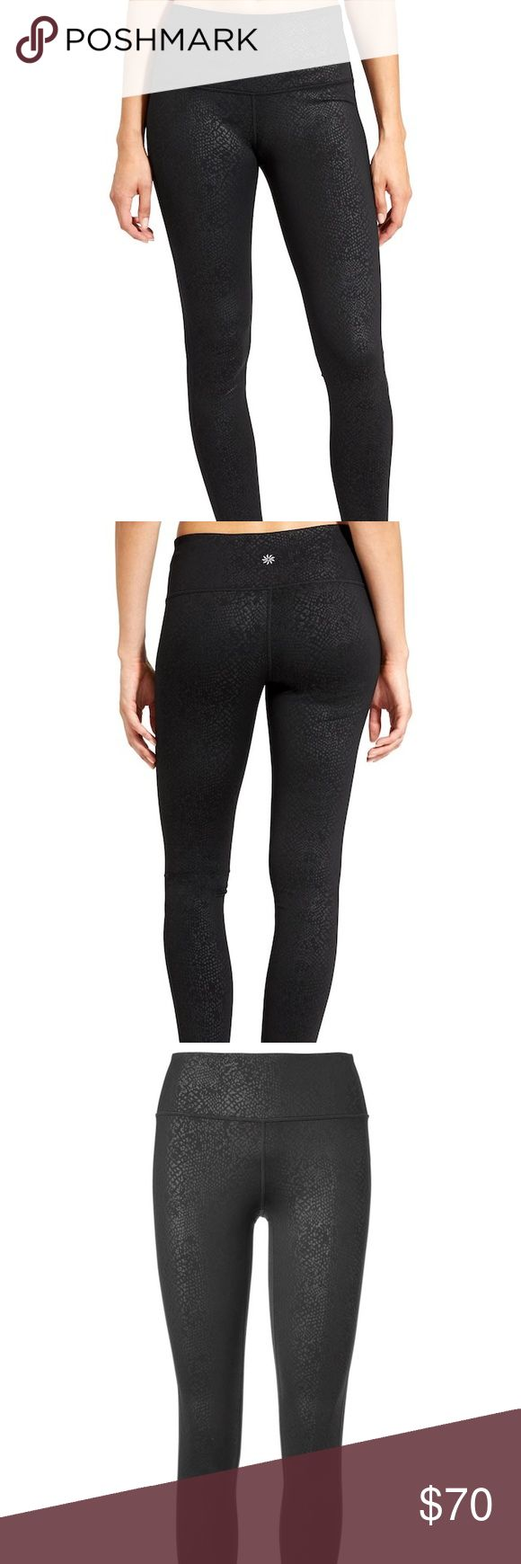 Black High Rise Serpent Chaturanga™ Tight NWOT! Make and offer.Black Athelta full length legging tight. Our go-to tight for yoga and studio workouts comes in a high-rise fit for a triple dose of performance: keeps everything tucked in, offers a secure, stay-put fit, and creates the longest, leggiest look. INSPIRED FOR: yoga, studio workouts, adventure To Fro UNPINCHABLE WAISTBAND. 3-layer inner mesh construction smooths over your midsection for a no-muffin-top zone Flatlock seams minimize…