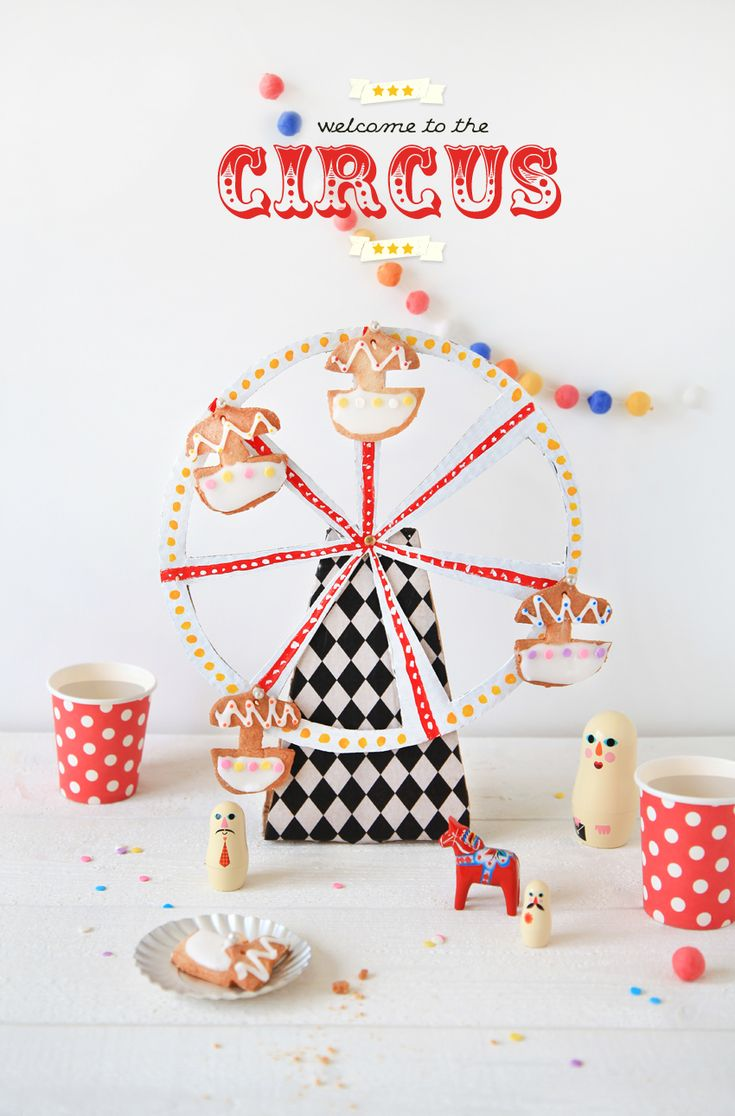 DIY & Cookies for a children's Party  http://www.griottes.fr/welcome-to-the-circus