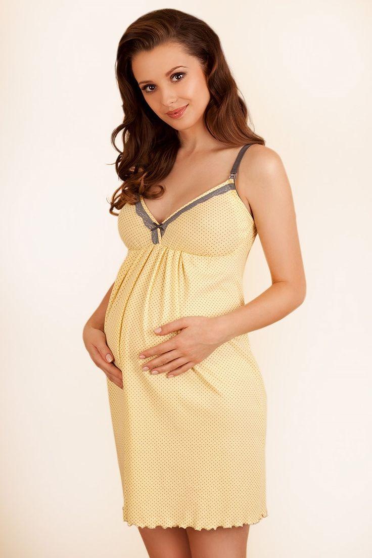 Nočná košieľka pre absolútny komfort v tehotenstve a pri dojčení. S praktickými odopínateľnými košíčkami! Nevystužené komfortné košíčky sa v hornej časti odopínajú ramienka sú široké a dĺžkovo nastaviteľné košieľka je pohodlná, ale zároveň poskytuje perfektnú oporu počas noci, ako bežná dojčiaca podprsenka obvod pod prsiami je zakončený elastickou gumičkou bavlnený materiál s prídavkom elastanu zaručí vysokú pružnosť materiálu