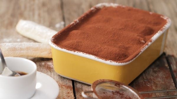 Recipe with video instructions: When it comes to Italian desserts made with lady fingers, espresso and cocoa powder, why mess with a classic? Ingredients: 1/2 cup heavy cream (minimum 30 percent fat), 4 egg yolks, ⅝ cup sugar, 1 cup mascarpone, 10 cups espresso, 1 cup ladyfingers, Cocoa powder