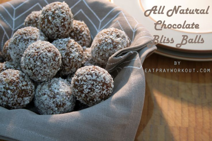 All Natural Chocolate Bliss Balls - a healthy version Boost's Protein Balls! - Eat Pray Workout 5 minutes to make!!