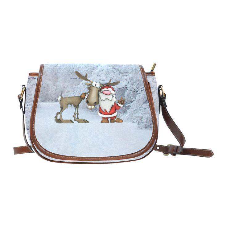 Santa and Reindeer Saddle Bag/Small #christmas #bags