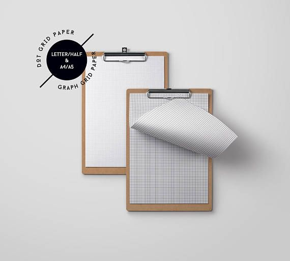 For the paper lover who loves to journal or keep track of their habits, this bundle of grid line paper and dot grid paper is perfect for all your paper needs! Both the graph grid and dot grids are in black against a white background and comes in A4, A5, Letter and Half Letter sizes.