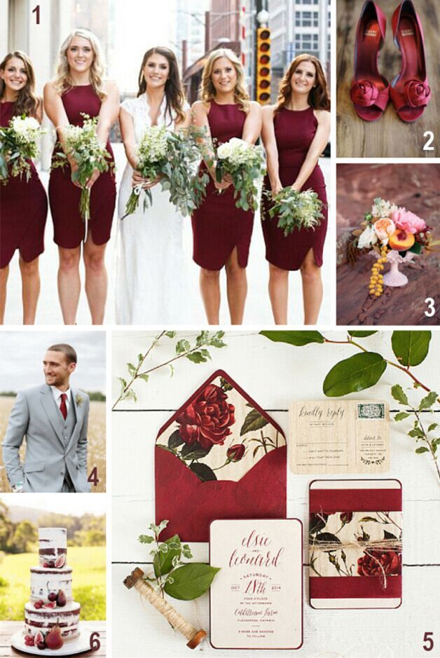 Marsala with Neutral Shades - 16 Most Refreshing and Trendy Spring Wedding Colors - EverAfterGuide
