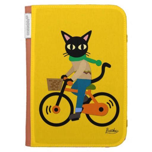 Go Cycling! Caseable Kindle Folio by BATKEI