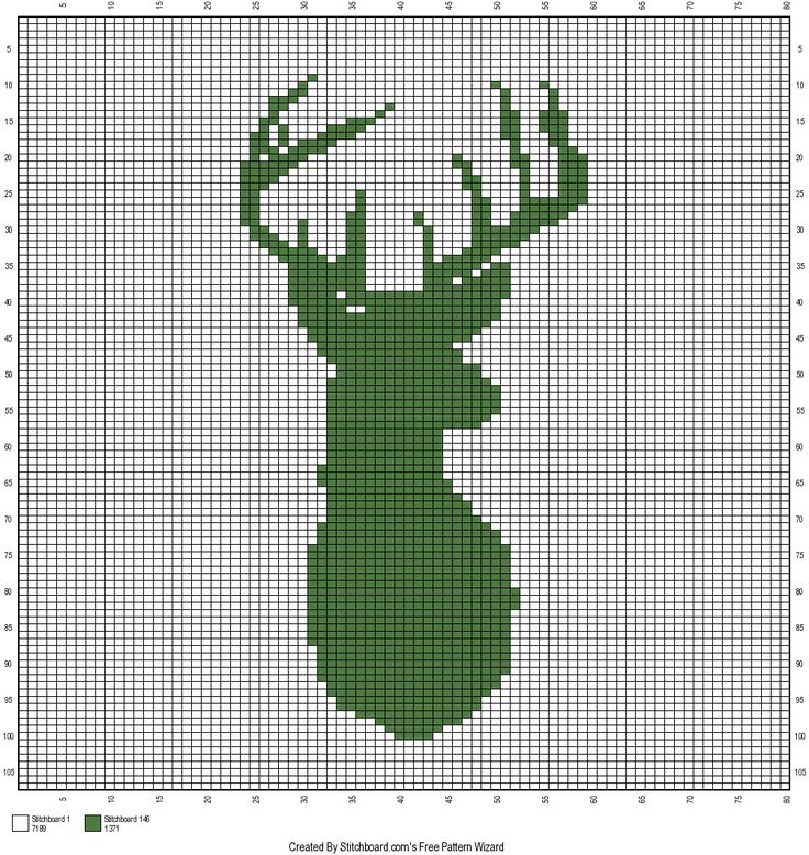 The Faux Menno: Deer Mount crochet graph Free pattern