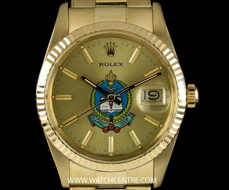 Rolex 14k Y/G Saudi Military Dial Datejust Gents Wristwatch 15037