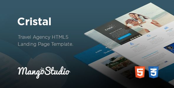 Cristal - Travel Agency HTML Landing Page Template (Marketing, Landing Pages, Retail, Travel)