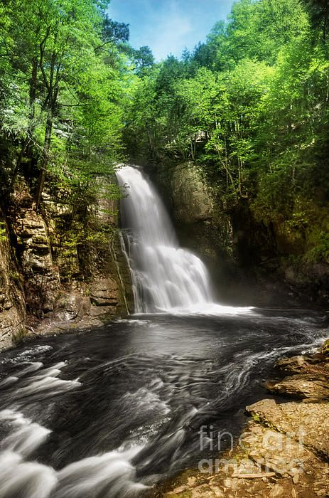 Bushkill Waterfalls, Pennsylvania.I want to go see this place one day.Please check out my website thanks. www.photopix.co.nz