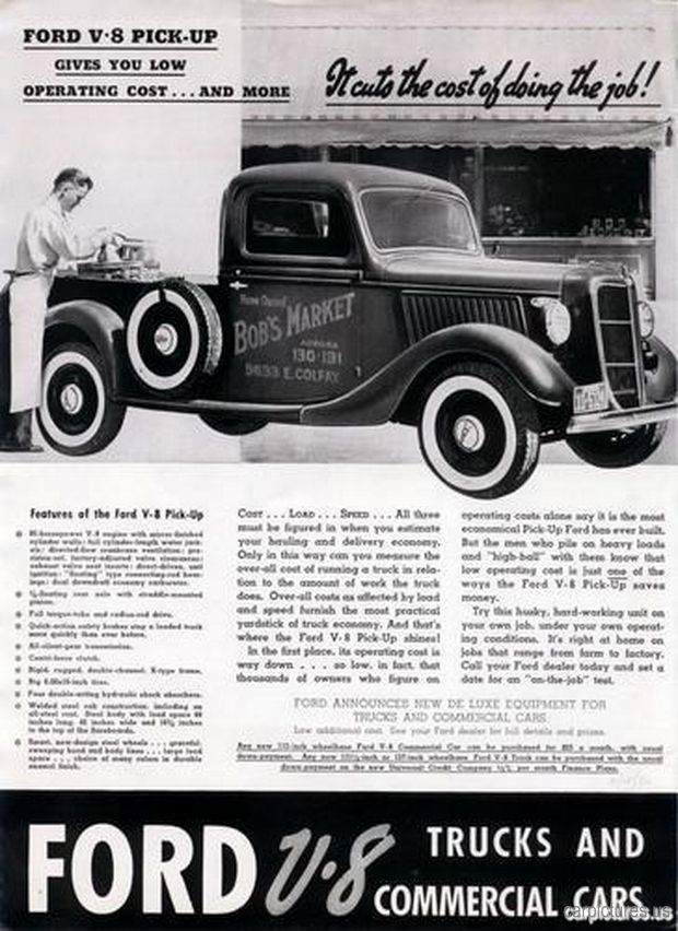 1936 Ford V-8 Half Ton Truck Ad  sc 1 st  Pinterest & 30 best Ford Motor Company Ads images on Pinterest | Ford motor ... markmcfarlin.com