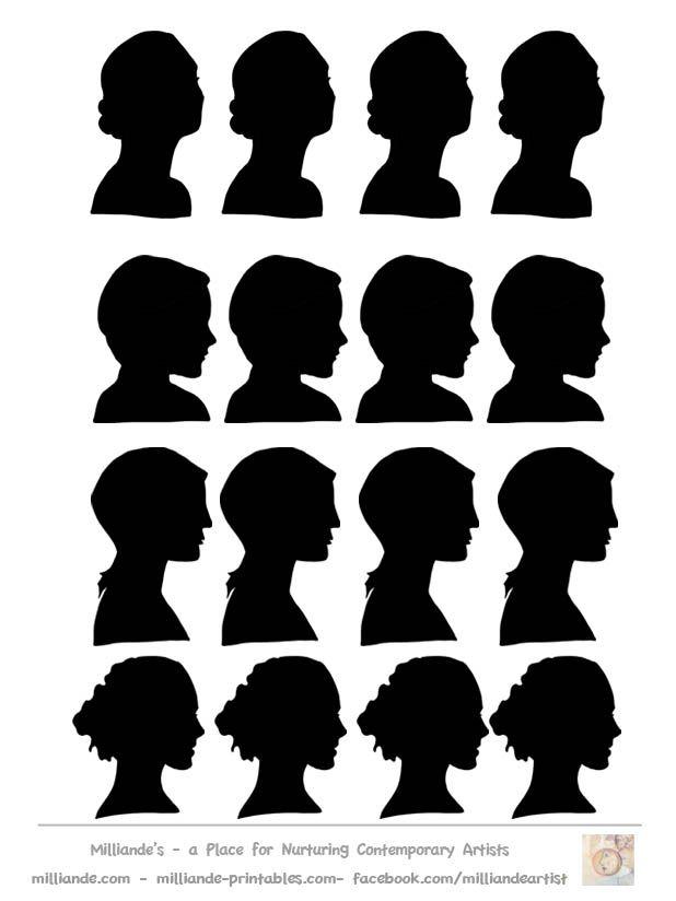 Face Silhouette Templates Printable Stencil Template at www - printable face templates
