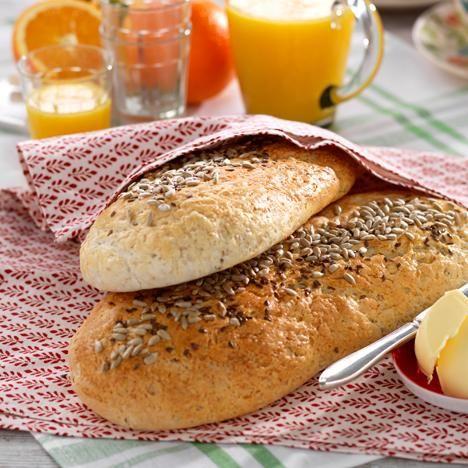 Detta bröd bakas med fördel i maskin.
