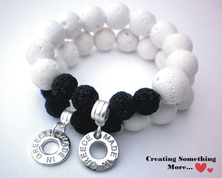Bracelet with white lava 2 <3 !!!