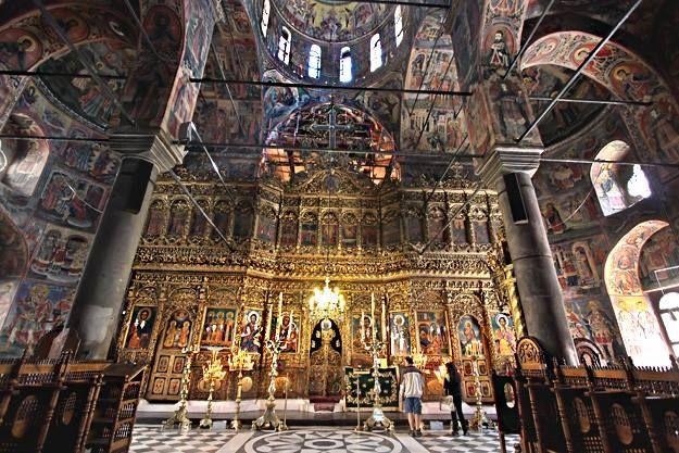 """Altar mayor de la iglesia del """"Monasterio de Rila """"II//Siglo X// Rila, Bulgaria"""
