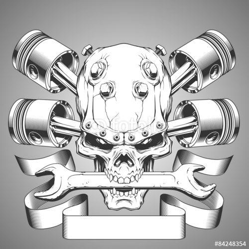 Vector: Vintage skull emblem