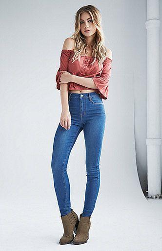 Azure Indigo Super High Rise Skinny Jeans $49.95