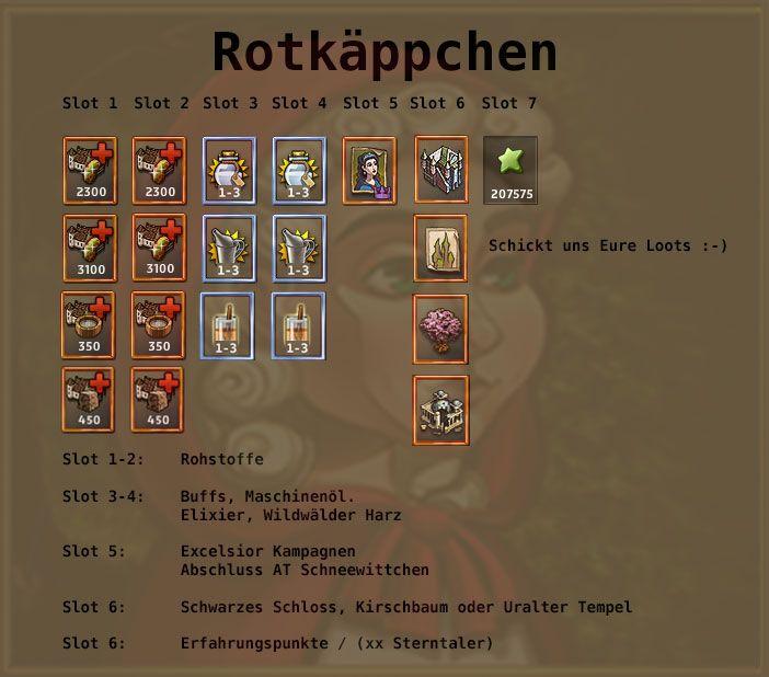 http://www.zwergenstadt.com/siedler/dso-unternehmungen-loots.php Belohnung des Excelsior AT Rotkäppchen bei Siedler Online