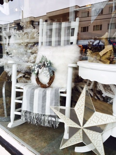 A Vintage Christmas....2015 store window display!