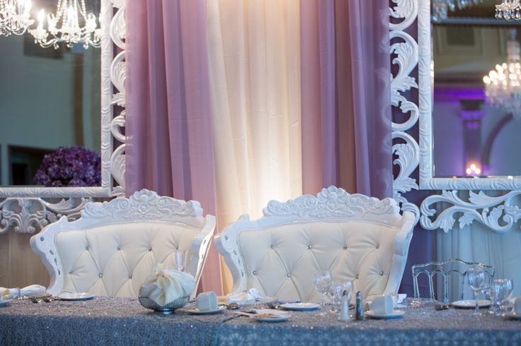 The Royal Ambassador wedding reception head table chairs