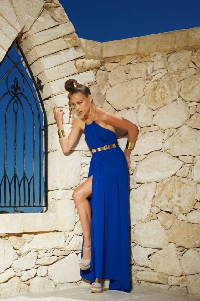 Rhodes dress cobalt