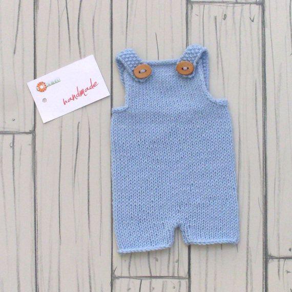 Newborn Photo Props Handmade Romper Boy Wool di RobertaCreations