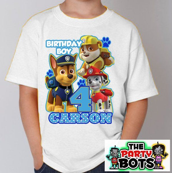 Custom Paw Patrol Birthday Party Shirt | Personalized Gifts Like Shirts and Decals