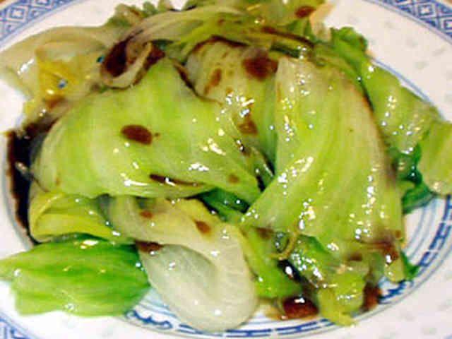 中華風レタスの湯引きの画像