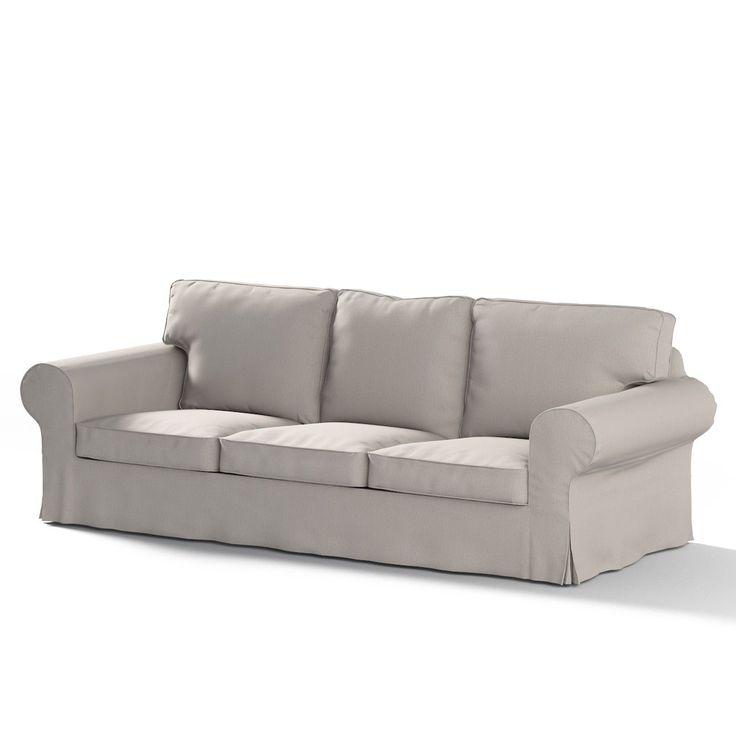 Ektorp 3 seter sovesofa uten boks, Grå fra kolleksjonen Chenille, Str. BxL Ektorp