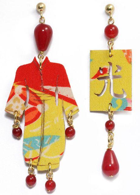 Kimono earrings 90€ http://www.ebay.it/itm/Lebole-Gioielli-Orecchini-Collezione-Kimono-Pietra-Rossa-2-/360696044723?pt=Gioielli_Donna_e_Unisex=item53fb28dcb3