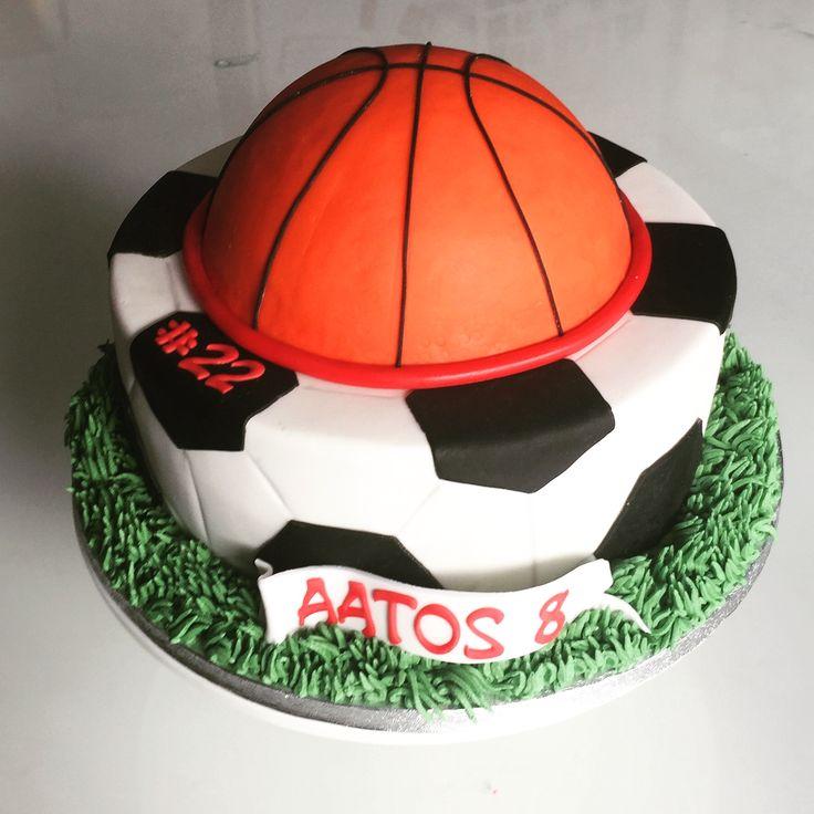 Footballcake, basketballcake