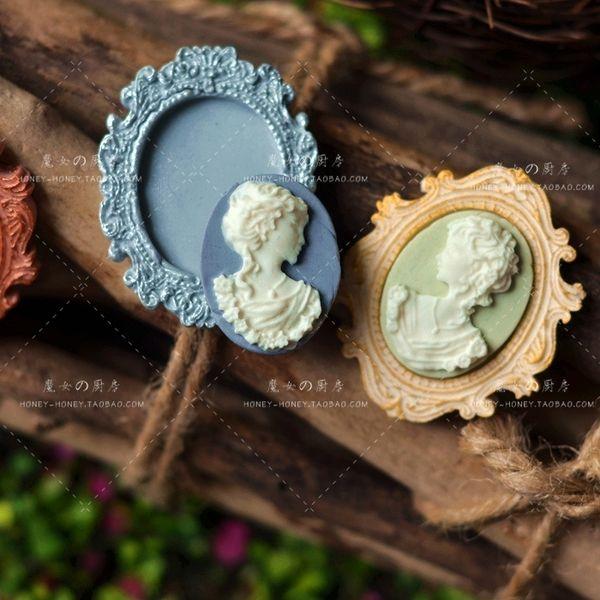 Экспорт пользовательских моделей платины силиконовые формы помадная зеркало леди ведьма の кухня