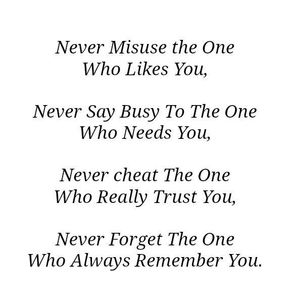 Wisdom in words : Never