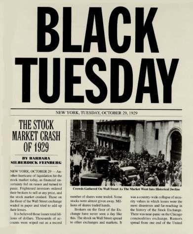 Black Tuesday: The Stock Market Crash of 1929