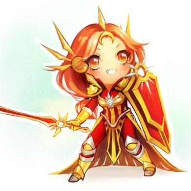 leona support tank chiby league of legends character #lol by #arseniclover
