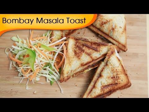 Bombay Masala Toast | Easy To Make Vegetable Sandwich Recipe By Ruchi Bharani
