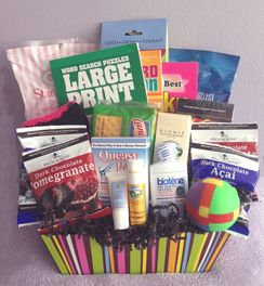 Rock the Treatment chemotherapy gift basket for women.