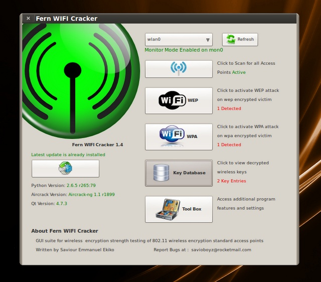 Fern Wifi Cracker 1.45 with Cookie Hijacker