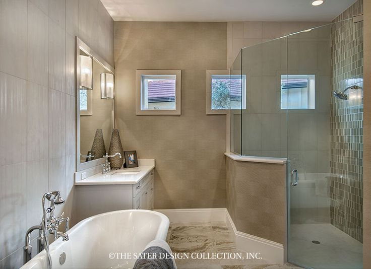 The Sater Design Collection's luxury, Tuscan home plan