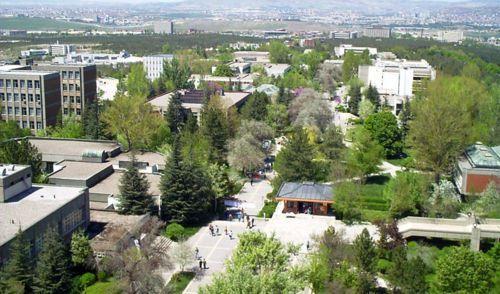 Odtü, aerial view, Ankara