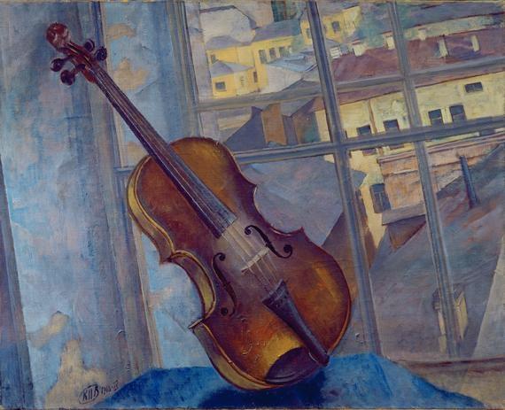 Violin (1918) Kuzma Sergeevich Petrov-Vodkin.